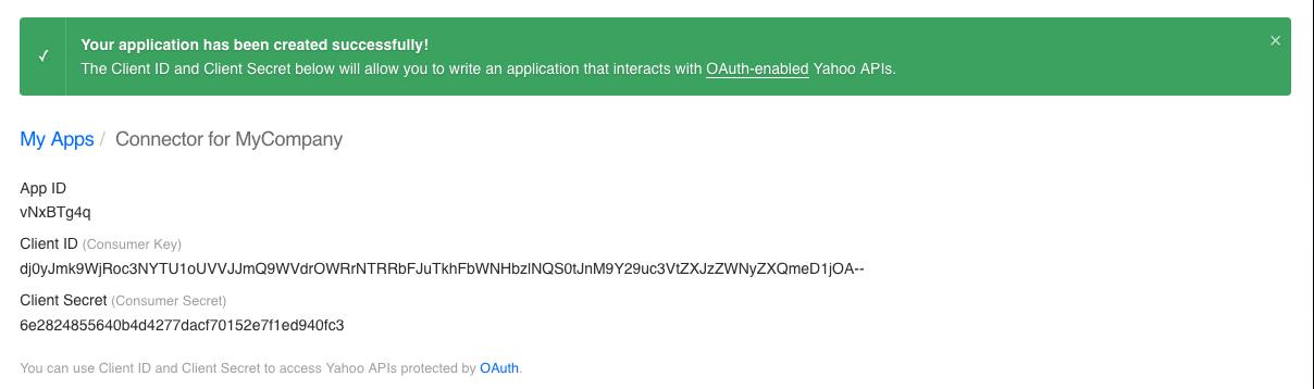 Yahoo : Technical Documentation